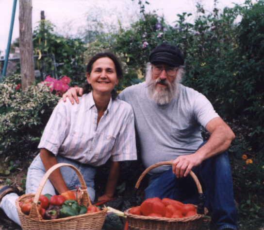 Marc & Nancy in their garden